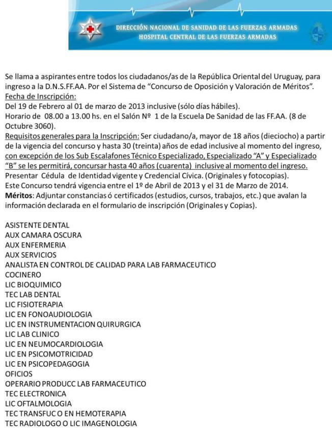 DEL LLAMADO DE FUERZAS ARMADAS